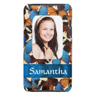 Butterfly pattern photo template iPod touch cover