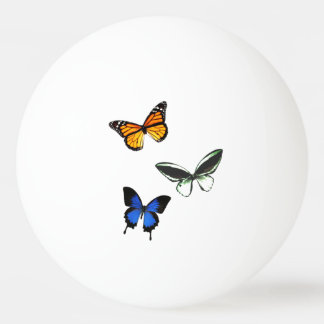 Butterfly Pattern Ping Pong Ball