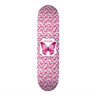 Butterfly Pattern Pretty Pink Purple 21.6 Cm Skateboard Deck