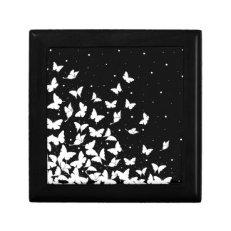 Butterfly pattern small square gift box
