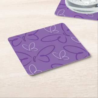 Butterfly pattern square paper coaster