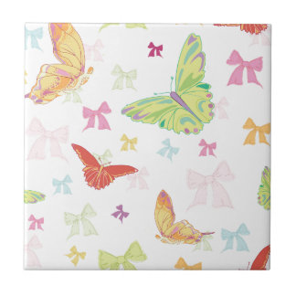 Butterfly pattern tile