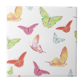 Butterfly  pattern. ceramic tile
