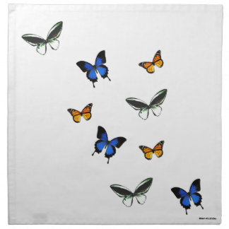 Butterfly Patterned Cloth Napkins