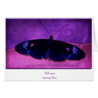 Butterfly Pavikion - Colors Purple Greeting Card