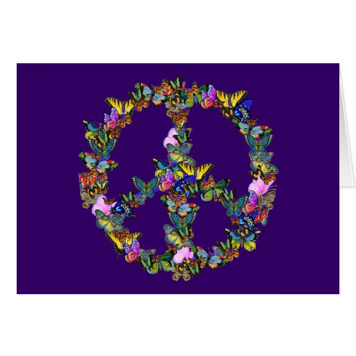 Butterfly Peace Symbol Card
