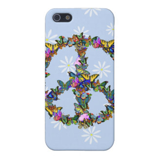 Butterfly Peace Symbol Case For iPhone 5/5S