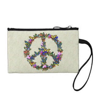 Butterfly Peace Symbol Coin Purses