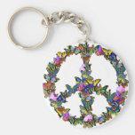 Butterfly Peace Symbol Key Chain