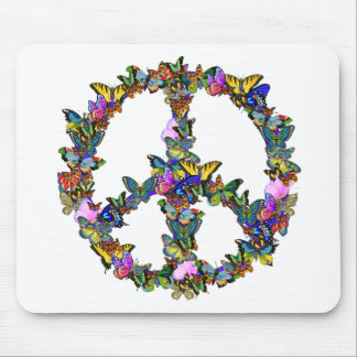 Butterfly Peace Symbol Mouse Mat