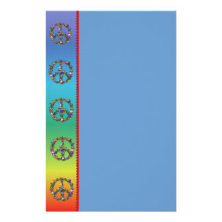 Butterfly Peace Symbol Personalized Stationery