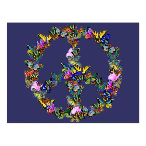 Butterfly Peace Symbol Postcards