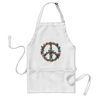 Butterfly Peace Symbol Standard Apron