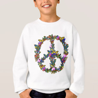 Butterfly Peace Symbol Sweatshirt