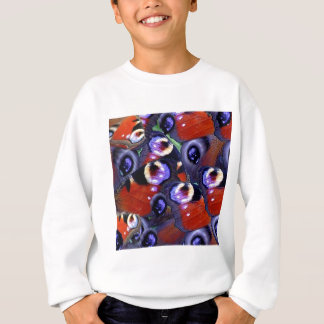 butterfly peacock feathers sweatshirt
