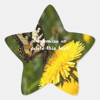 Butterfly Perch; Customizable Star Sticker