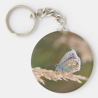 Butterfly Perched on Wheat Key Chain