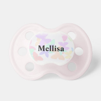 Butterfly personalized Baby Name Dummy