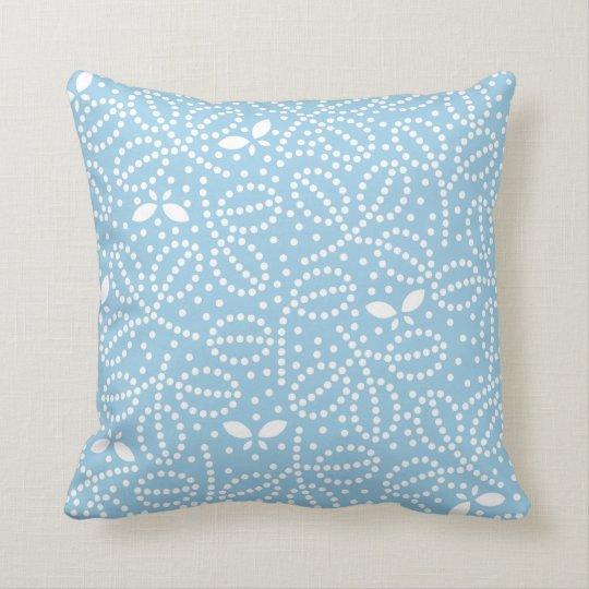 Butterfly Pillow in Cornflower Blue