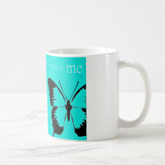 Butterfly pin and mount coffee mug