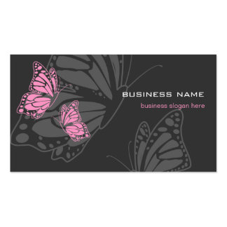 Butterfly Pink & Dark Elegant Modern Pack Of Standard Business Cards