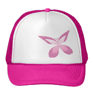 Butterfly Pink Ribbon Cap