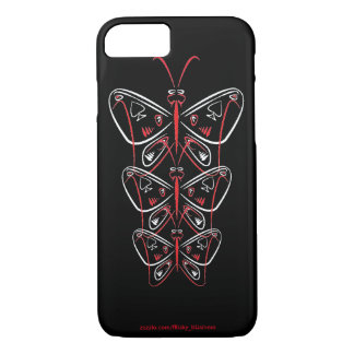 butterfly pinstripe tribal ace of spades iPhone 7 case