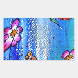 Butterfly -pixi-art.com rectangle sticker