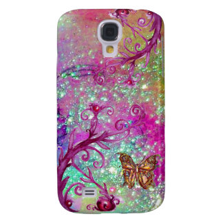 BUTTERFLY PLANT / MAGIC SWIRLS IN SPARKLE violet Galaxy S4 Case