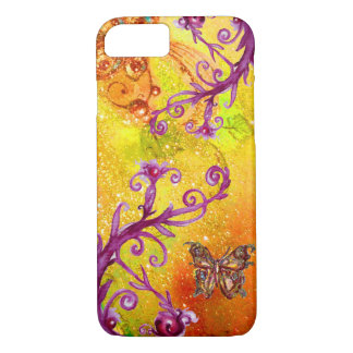 BUTTERFLY PLANT / MAGIC SWIRLS IN SPARKLE Yellow iPhone 8/7 Case