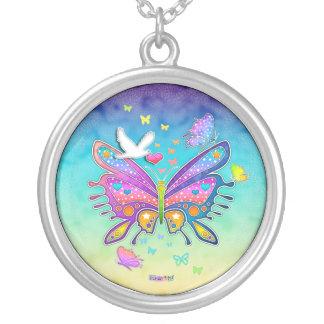 Butterfly Pop Art Necklace