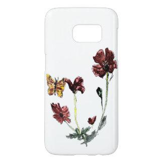 Butterfly Poppy Flowers Illustration