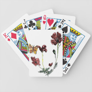 Butterfly Poppy Flowers Illustration Bicycle Playing Cards