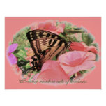 Butterfly Practice random acts of kindness Poster