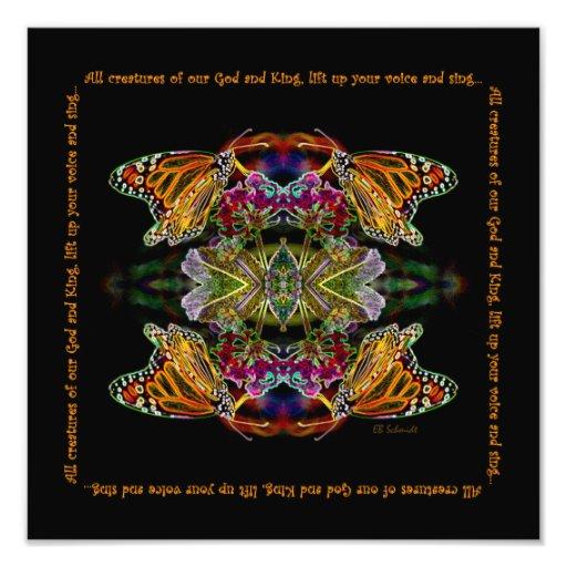 Butterfly Praise Print Art Photo