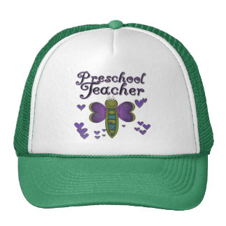 Butterfly Preschool Teacher Tshirts and Gifts Cap
