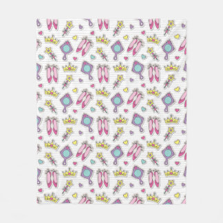 butterfly princess pattern fleece blanket