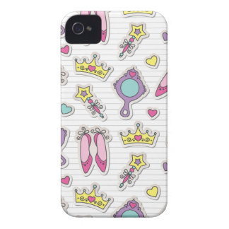 butterfly princess pattern iPhone 4 cases