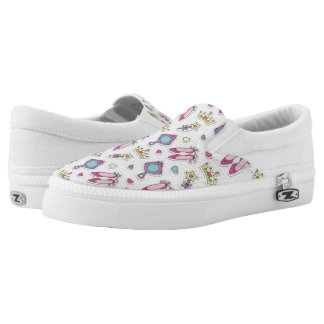 butterfly princess pattern Slip-On shoes