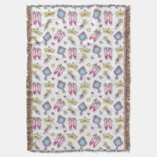 butterfly princess pattern throw blanket