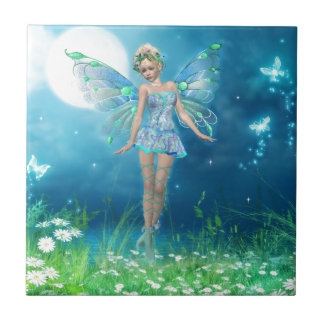 Butterfly Princess Small Square Tile