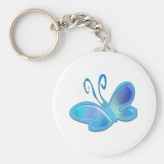 Butterfly products totally customisable basic round button key ring