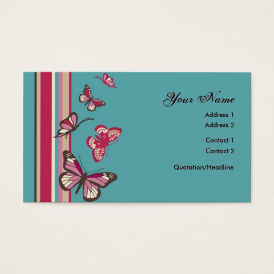 Butterfly Profile Card