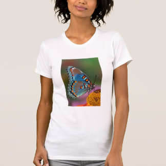 Butterfly profile on a flower T-Shirt