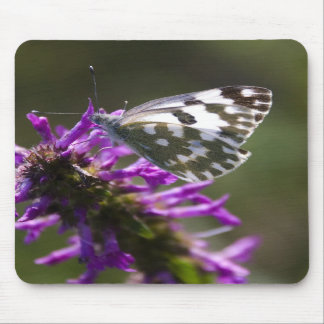 butterfly&purple flower mouse pads