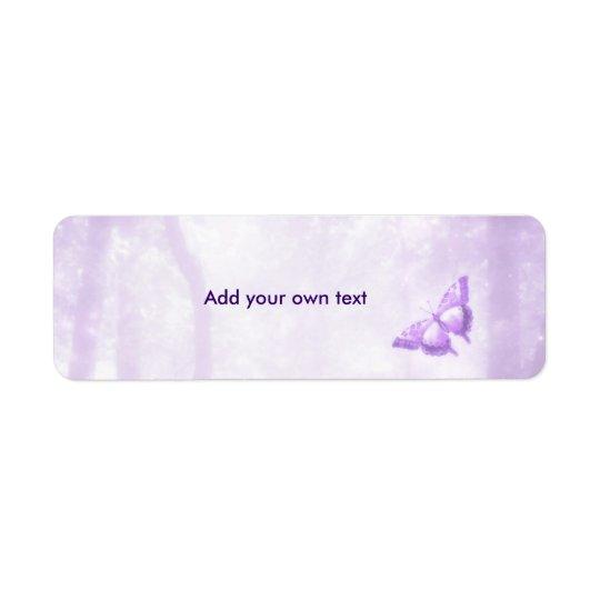 Butterfly Purple Label Sticker