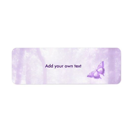 Butterfly Purple Label Sticker Return Address Label