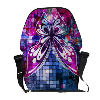 Butterfly Purple Vector Abstract Art Courier Bags