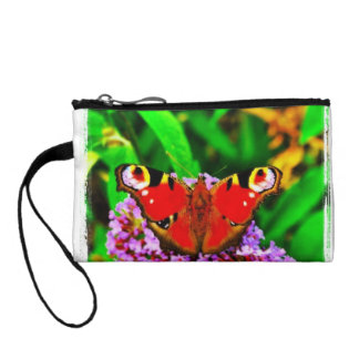 butterfly purse wristlet wallet