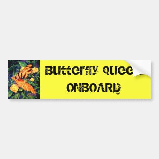 Butterfly Queen Bumper Sticker